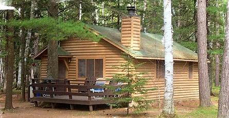 exterior of minnesota resort cabin