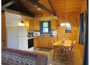 interior of minnesota resort cabin