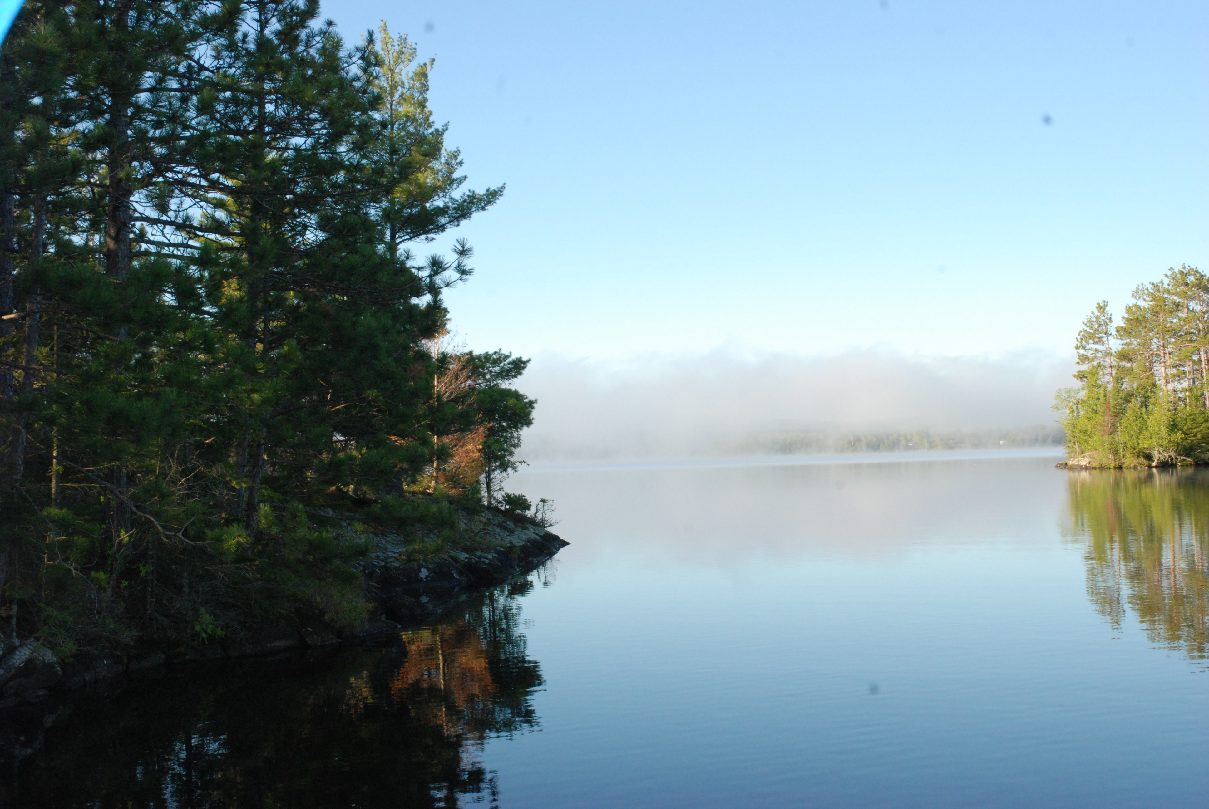 Fog over Birch Lake